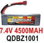 HG P602 Parts- Battery(1pcs)-7.4V 4500MAH 30C LiPo Battery Pack(1pcs)-QDBZ1001
