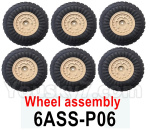 HG P602 Parts-Wheel assembly-6 Set-06ASS-P06