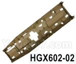HG P602 Parts- Bottom cover parts-HGX602-02