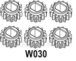 HG P602 Parts- Differential gear B-6PCS-W030