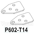 HG P602 Parts- Front leaf spring positioning piece-P602-T14,Total 2pcs