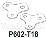 HG P602 Parts- Rear leaf spring fixing plate-P602-T18,Total 2pcs