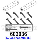 HG P602 Parts- Girder connection block-602036,62.4X12X8mm M3