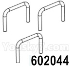 HG P602 Parts- Door pull ring-602044,Total 3pcs