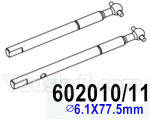 HG P602 Parts- Front axle drive dog bone suit-602010 11,Total 2pcs,∅6.1X77.5mm