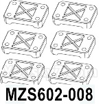 HG P602 Parts- Bridge positioning piece-MZS602-008,Total 6pcs