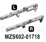 HG P602 Parts- Front beam-MZS602-01718,,eft and Right,Total 2pcs