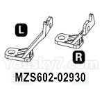 HG P602 Parts- Bumper support frame-MZS602-02930,Left and Right,Total 2pcs