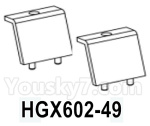 HG P602 Parts- Chassis decoration-HGX602-49,Total 2pcs