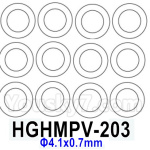 HG P602 Parts- Shock absorber silicone ring-HGHMPV-203,Total 12pcs,Φ4.1x0.7mm