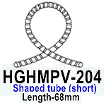 HG P602 Parts- Shaped tube (short)-HGHMPV-204,Length-68mm