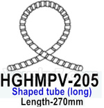 HG P602 Parts- Shaped tube (Long)-HGHMPV-205,Length-270mm