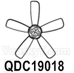 HG P602 Parts- Brushless motor fan blades-QDC19018