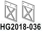 HG P602 Parts- fender-HG2018-036,Total 2pcs