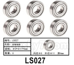 HG P602 Parts- 407-LS027,Rolling bearings-Φ5x11x4mm,Total 6pcs