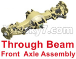 HG P801 P802 Parts-01-01 8ASS-P0017 Through Beam Front Axle Assembly-Blue or Yellow color