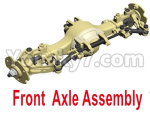 HG P801 P802 Parts-01-02 8ASS-P0020 Front Axle Assembly-Blue or Yellow color