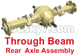 HG P801 P802 Parts-02-01 8ASS-P0018 Through Beam Rear Axle Assembly-Blue or Yellow color