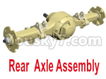 HG P801 P802 Parts-02-02 8ASS-P0019 Rear Axle Assembly-Blue or Yellow color