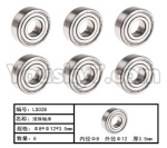 HG P801 P802 Parts-120 W04005 Ball Bearing(6pcs)-Φ8XΦ12X3.5mm