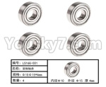HG P801 P802 Parts-123 LS16G-001 Ball Bearing(6pcs)-Φ10XΦ15X4mm