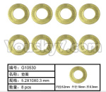 HG P801 P802 Parts-130 W04010 washer(8pcs)-5.2X10X0.3mm