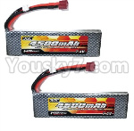 HG P801 P802 Parts-153-02 QDBZ1001 7.4V 4500MAH Battery,7.4V 4500MAH lI-Poli 30C Pack(2pcs)
