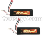 HG P801 P802 Parts-154-02 G10404 7.4V 3000MAH Battery,7.4V 3000MAH lI-Poli Pack(2pcs)