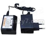 HG P801 P802 Parts-157-03 WE0021 Official charger and balance charger(Can charge 1 battery at the same time)