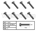 HG P801 P802 Parts-165-06 LS002 Inner-Hexagon TB screws(8pcs)-Φ3X10mm