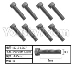 HG P801 P802 Parts-165-14 8012-P007 Inner-Hexagon Cup head TB screws(8pcs)-Φ2X4mm