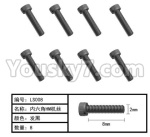 HG P801 P802 Parts-165-17 W05010-02 Inner-Hexagon HM screws(8pcs)-Φ2X8mm