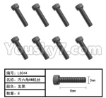 HG P801 P802 Parts-165-18 LS011 Inner-Hexagon HM screws(8pcs)-Φ3X8mm