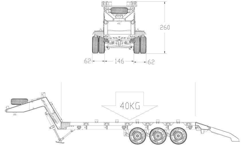 HG P806 TRASPED 1:12 Heavy Equipment Semi Trailer Remote Control RC Car