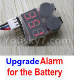 HBX 12895 Parts-Upgrade Alarm for the Battery.You can hear the Alarm in 50 meters distance.