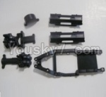 HaiBoXing 12811B Parts-02 12601R Gear Box Housing & Upper Deck,Second Floor plate & Battery Cover