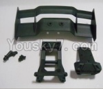 HaiBoXing 12811B Parts-07 12606 Tail wing & Tail wing frame & Column for the Car canopy(For Off-road vehicles)