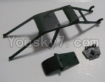 HaiBoXing 12811B Parts-08-04 12608 Anti-roll cage and Front anti-collision(Can only be used for 12811B car)