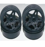 HaiBoXing 12811B Parts-12-03 12035 12038 Front and Rear Wheel hub-(4PCS)-(Not include the Tire lether)