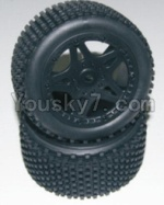 HaiBoXing 12811B Parts-12-05 12039 Rear Wheels Complete(2PCS)-(Include the Wheel hub and Tire lether)
