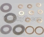 HaiBoXing 12811B Parts-20 12617 Washers-4PCS(φ6.3X12.5X0.2mm) & Washers-8PCS(φ2.7X5.5X0.3mm) & Washers-2PCS(φ8.2X10.5X0.3mm)