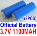 HaiBoXing 12811B Parts-22-01 12619A Official 3.7V 1100mAH Battery(Li-ion Batteries)-2pcs