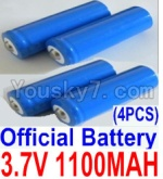 HaiBoXing 12811B Parts-22-02 12619A Official 3.7V 1100mAH Battery(Li-ion Batteries)-4pcs