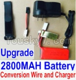 HaiBoXing 12811B Parts-22-03 Upgrade 7.4V 2800MAH Battery & Charger & Conversion wire & Magic straps