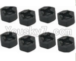 HaiBoXing 12811B Parts-29 12010 Hexagon Wheel Seat(4pcs)