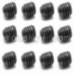 HaiBoXing 12811B Parts-38 S016 Set Screw-3X3mm(12PCS)