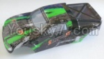 HaiBoXing 12811B Parts-54-03 12685 Truggy Body shell,Car shell-Green