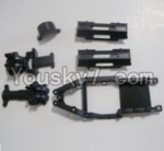 HaiBoXing 12813 Parts-02 12601R Gear Box Housing & Upper Deck,Second Floor plate & Battery Cover