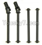 HaiBoXing 12813 Parts-05-02 Front Drive shaft,Front dog bone(2pcs) & Rear drive shaft(2pcs)