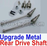 HaiBoXing 12813 Parts-05-06 12711 Upgrade Metal Rear CVD Shaft & nuts & screws & wheel pins & Metal Differential Cup-(Total For Rear Car)